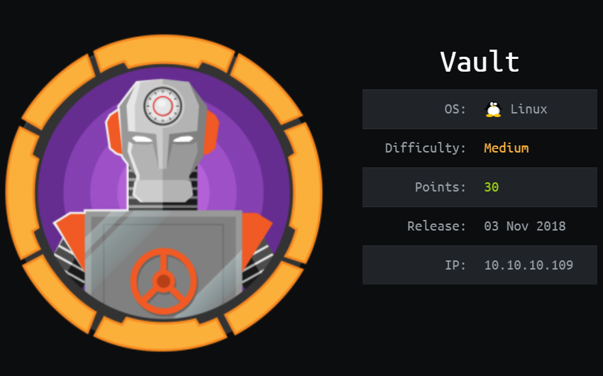 Vault Writeup | Hack The Box