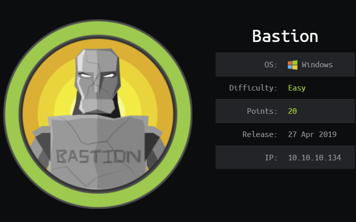 Bastion Writeup | Hack The Box
